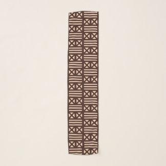 焦茶MudClothの刺激を受けたなタイルのタイルの十字 スカーフ