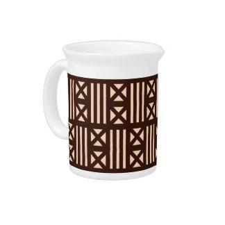 焦茶MudClothの刺激を受けたなタイルのタイルの十字 ピッチャー