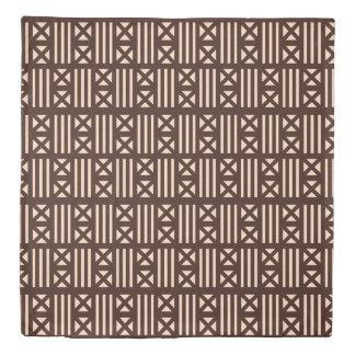 焦茶MudClothの刺激を受けたなタイルのタイルの織物 掛け布団カバー