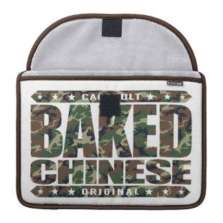 焼いたな中国語-私は巧妙なドラゴンのチェーサー、迷彩柄です MacBook PROスリーブ