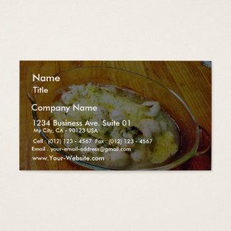 焼いたな帆立貝の食糧 名刺
