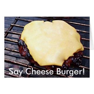 焼かれたチーズハンバーガーカード カード