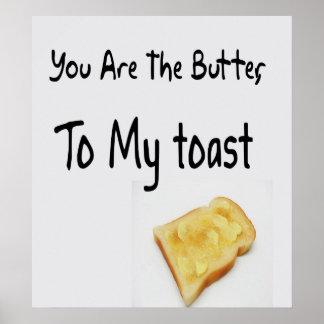 焼かれたパン、愛単語 ポスター