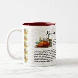 焼かれたローズマリートルコ ツートーンマグカップ