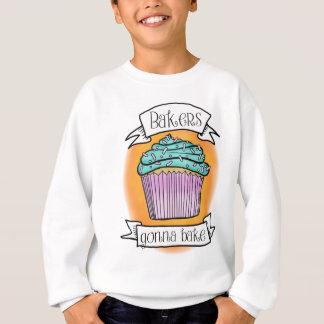 焼けることを行っているパン屋 スウェットシャツ