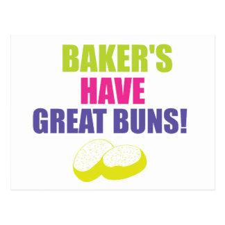 焼けること-パン屋はよいパンを食べます ポストカード
