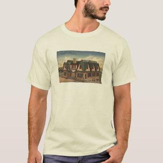 焼跡の切り妻のヴィンテージの郵便はがきのワイシャツ Tシャツ