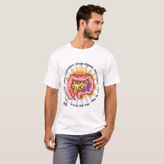 焼跡- IBDの認識度のティー--を終えて下さい Tシャツ