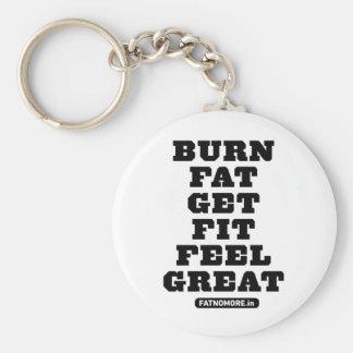 焼跡FAT -適合-感じ--を素晴らしいフィットネスの刺激得て下さい キーホルダー