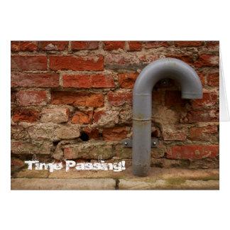 煉瓦および管-時間の渡ること-挨拶状 カード