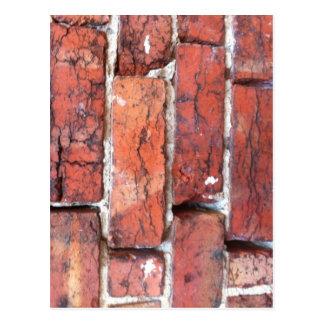 煉瓦の荒い壁 ポストカード