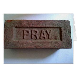 煉瓦カードを祈って下さい カード