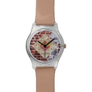 煉瓦ダイヤモンドの腕時計 腕時計