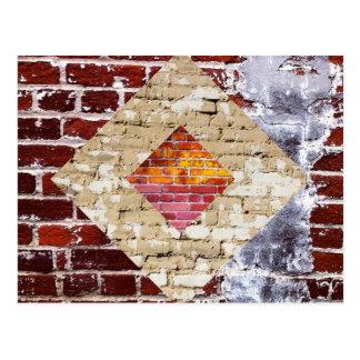 煉瓦ダイヤモンドの郵便はがき ポストカード