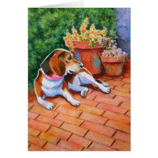 煉瓦テラスのビーグル犬 カード