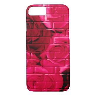 煉瓦バラ06のピンクiPhoneの7例 iPhone 8/7ケース
