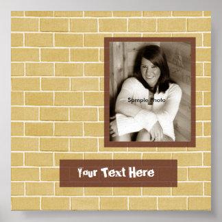 煉瓦写真の卒業のサインポスター ポスター