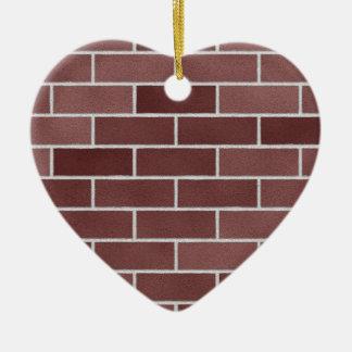煉瓦壁185 0 陶器製ハート型オーナメント