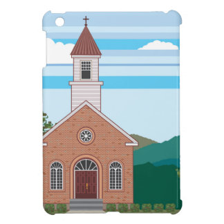煉瓦教会ベクトル景色 iPad MINIケース