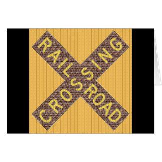 煉瓦鉄道Crossbuck カード