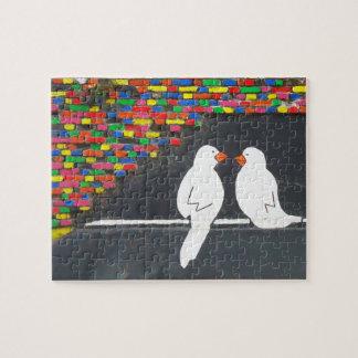 煉瓦鳥の壁: 落書きの壁 ジグソーパズル