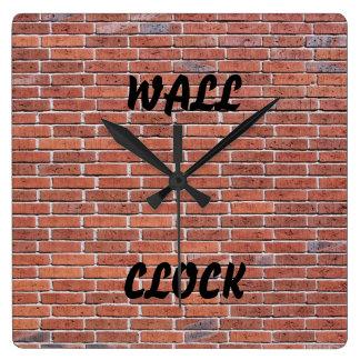 煉瓦「壁Clock スクエア壁時計
