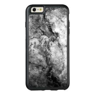 煙によって縞にされる白黒の大理石の石の終わり オッターボックスiPhone 6/6S PLUSケース