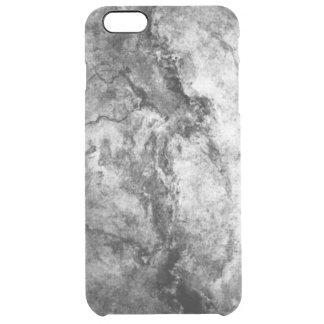 煙によって縞にされる白黒の大理石の石の終わり クリア iPhone 6 PLUSケース