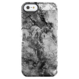 煙によって縞にされる白黒の大理石の石の終わり クリア iPhone SE/5/5sケース