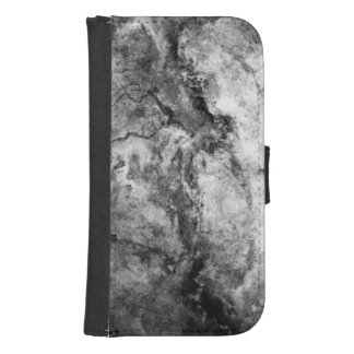 煙によって縞にされる白黒の大理石の石の終わり ダイアリー GALAXY S4 ケース