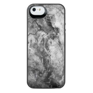 煙によって縞にされる白黒の大理石の石の終わり iPhone SE/5/5sバッテリーケース