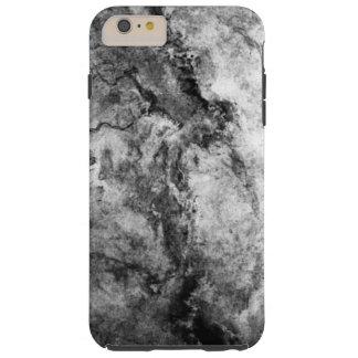 煙によって縞にされる白黒の大理石の石の終わり TOUGH iPhone 6 PLUS ケース