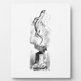 煙のサンショウウオ フォトプラーク