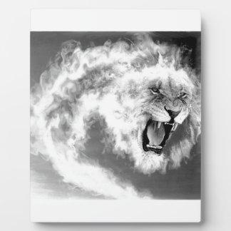 煙のライオン フォトプラーク