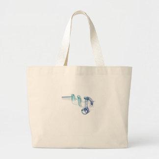 煙の抽象的で旧式ながらくたのスタイルのファッションの芸術Soli ラージトートバッグ