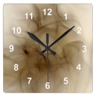 煙の抽象芸術 スクエア壁時計