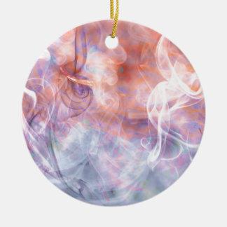 煙の蒸気Phosphene -抽象美術 セラミックオーナメント