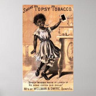 煙のTopsyのタバコ ポスター