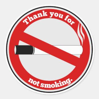 煙らないことをありがとう ラウンドシール