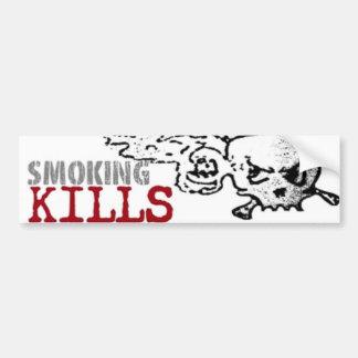 煙ることは02バンパーステッカーを殺します バンパーステッカー
