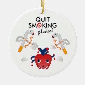煙ることをやめて下さい セラミックオーナメント