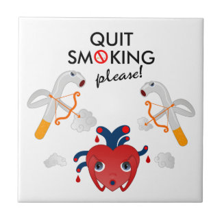 煙ることをやめて下さい タイル