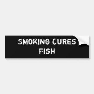 煙る治療の魚 バンパーステッカー