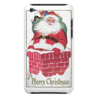 煙突のヴィンテージカードをたどって行くサンタ Case-Mate iPod TOUCH ケース