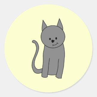 煙色猫の漫画 ラウンドシール