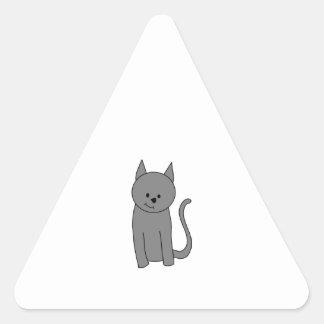 煙色猫の漫画 三角形シール