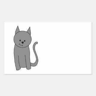 煙色猫の漫画 長方形シール