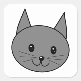 煙色猫 スクエアシール