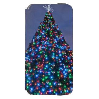 照らされたクリスマスツリーの低い角度眺め iPhone 6/6Sウォレットケース