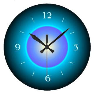照らされたデザインの緑か水またはPurple>Wallの時計 ラージ壁時計